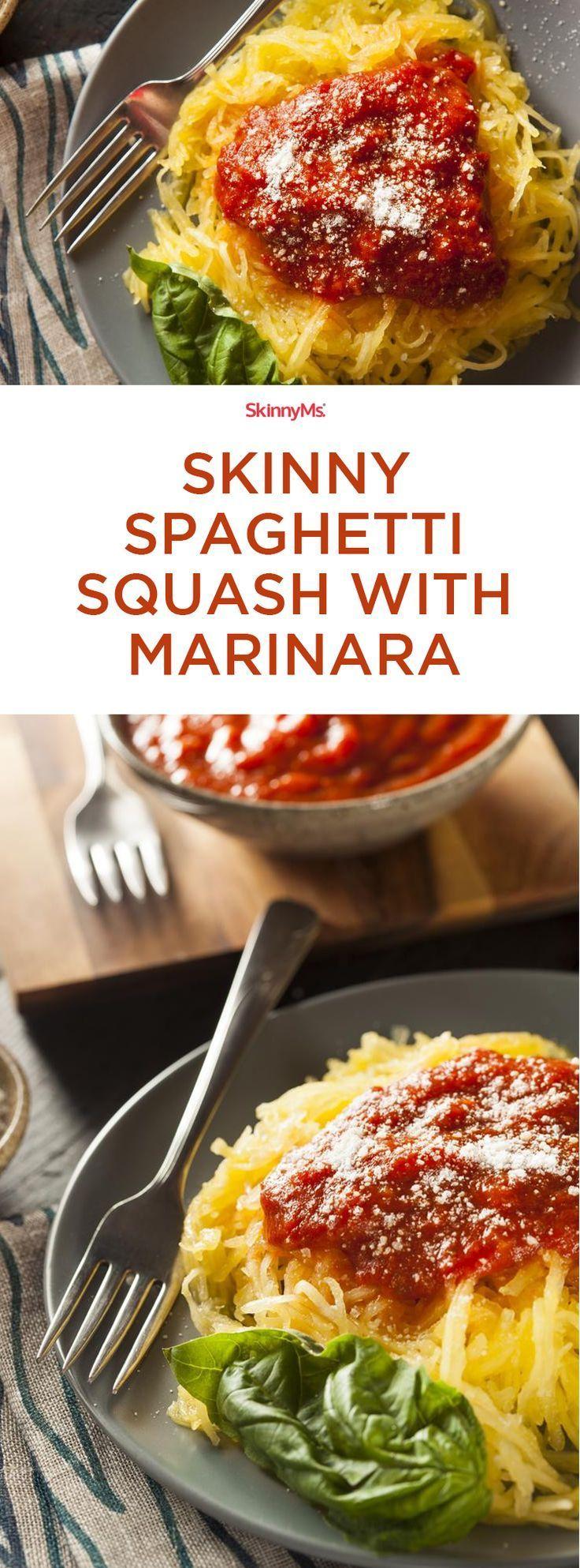 Skinny Spaghetti Squash with Marinara. Sooo delicious!!