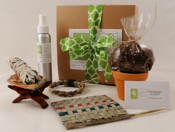 Great housewarming gift idea, cleanse your new space!  ++++++++++ SageMyNest Housewarming Gift Kit - A Sage Cleansing, Sage Smudge Kit For A New Home Owner Or New Apartment! Unique Housewarming Gift Idea!