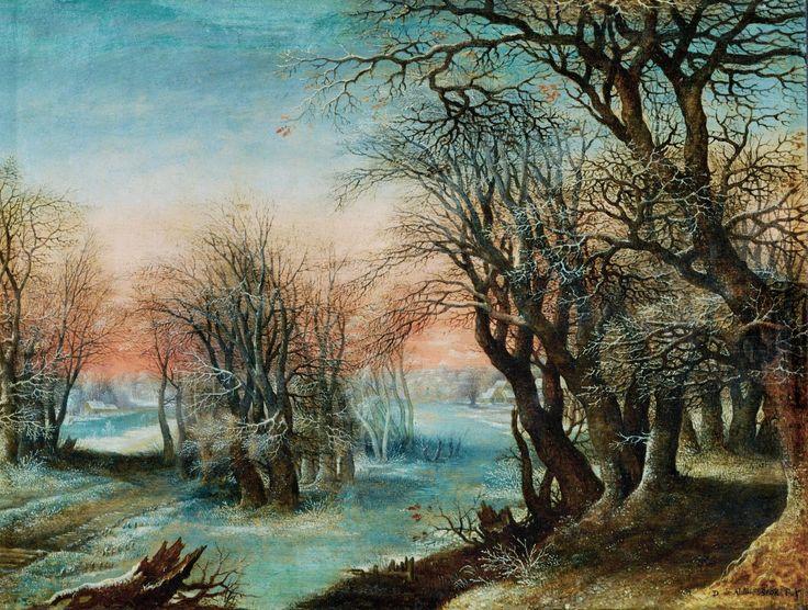 Alsloot Denis van (1570 - 1626-28) Зимний пейзаж  (Winter Landscape)  1610_36 х 47_д.,м.  Париж, Лувр