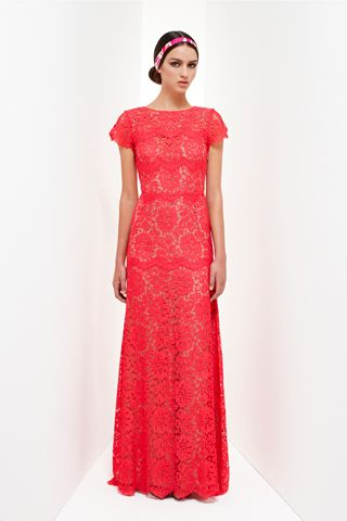 Add a belt to this and it would look stunning!  Collette Dinnigan Resort 2013