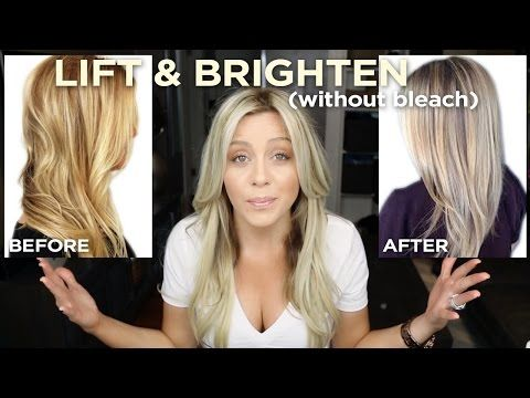Tips for Hair : How To Lift and Brighten your blonde in one step, without bleach! - YouTube