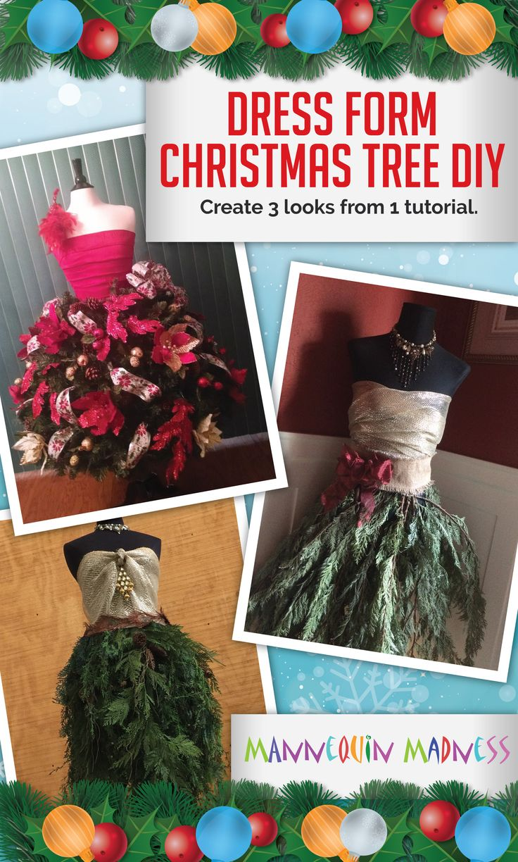 Buy this tutorial for $10 to learn how to make 3 different styles of Dress Form Christmas trees - with either fresh or faux garland