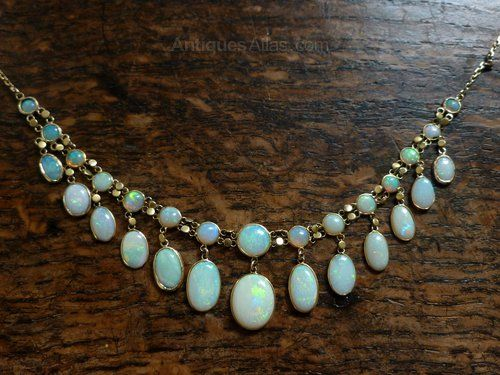 vintage opal necklace - Google Search
