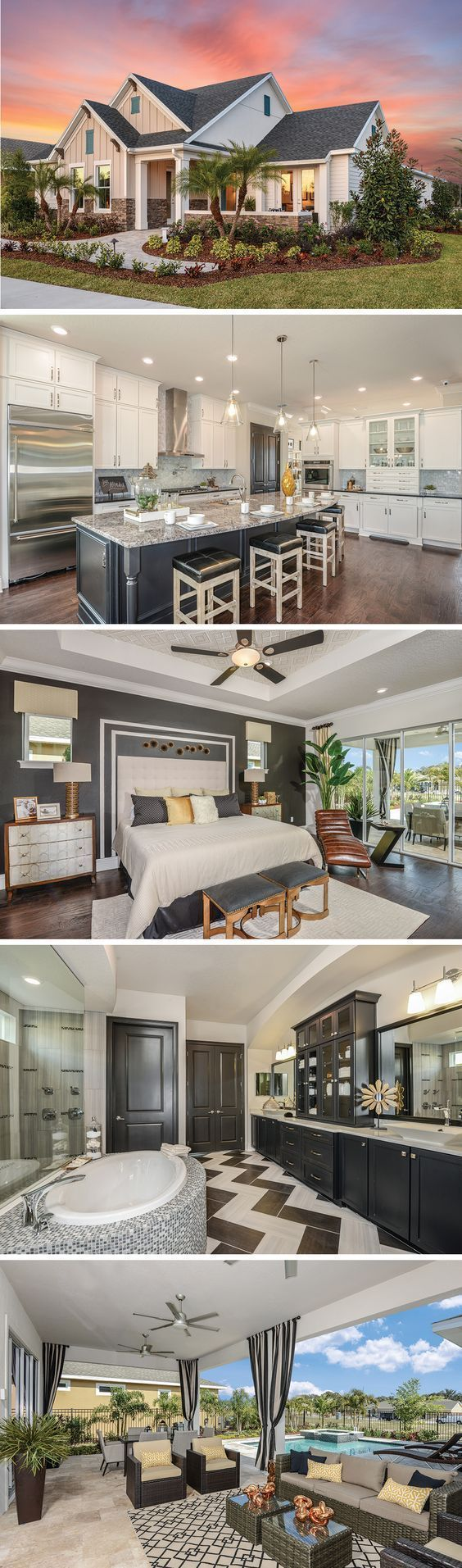 The Edencrest by David Weekley Homes in Encore is a 2 bedroom, 2 bath floorplan that features an open kitchen and family room layout, a large owners retreat with tray ceilings and a private lanai. Custom home upgrades include an extended lanai, a shower in the master bathroom or a 3 car garage. #HomeAppliancesLayout