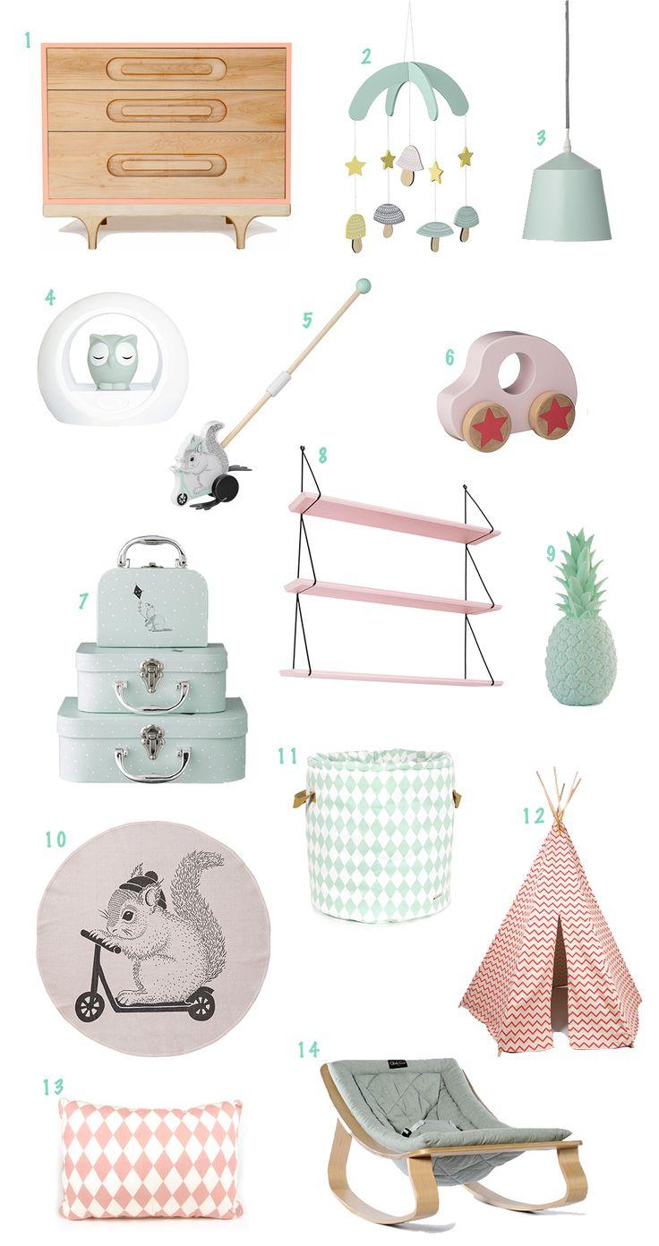 Sélection shopping mint et corail - www.tiny-paw.com
