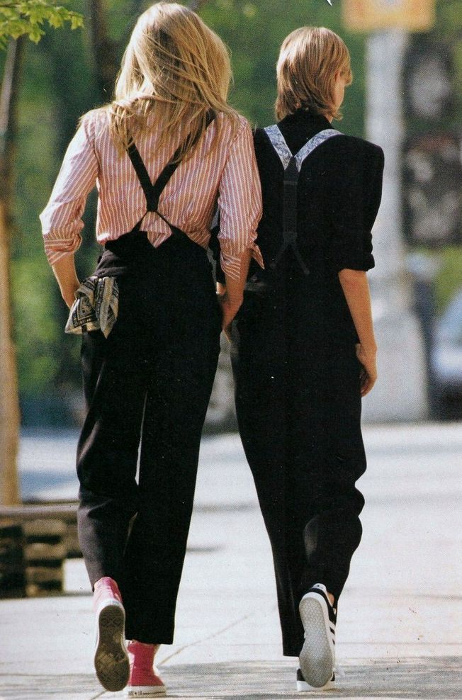 """tomboy/femme style.   mariah-do-not-care-y: US ELLE March 1993""""In A..."""