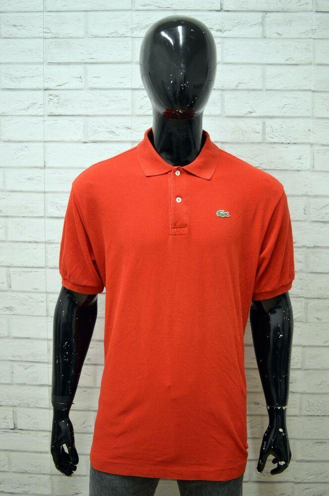 nuotare Lima smog  Polo LACOSTE Uomo Taglia Size 7 Maglia Maglietta Camicia Shirt Man Cotone  Rosso | Lacoste uomo, Magliette, Camicia