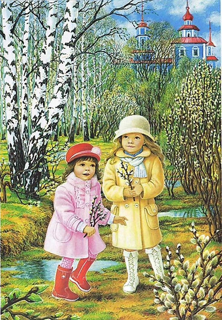 Весна: картинки для детей