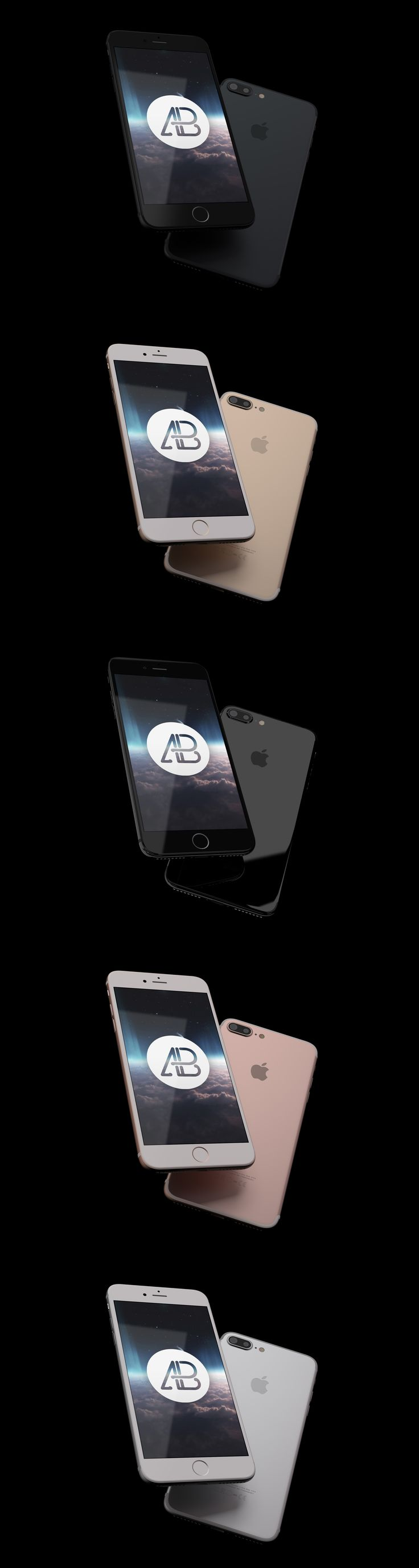 Todays freebie is a Realistic iPhone 7 Plus Mockup Pack created by Anthony Boyd. This mockup features iPhone 7 Plus floating in space with changeable colors. You can choose between black, jet black, gold, rose gold, and silver. This mockup is free for both personal and commercial use.