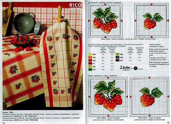 """Милые сердцу штучки: Вышивка крестом: """"Кухонные полотенца от Rico Design"""""""