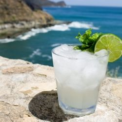 """Don't like """"mint salad"""" in your mojito? Check out this how to & great recipe for a delish drink without having to check a mirror after every sip!: Rocks Cliff, Posts Prohibition, Summer Drinks, Drinks Cocktails, Mint Salad, The Ocean, Add Rocks, Favorite Recipes, Water Recipes"""