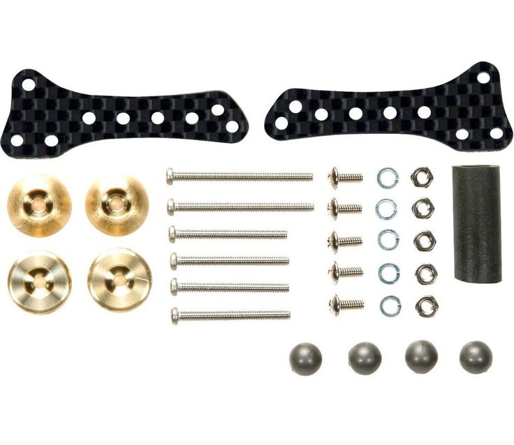 Tamiya 94970 Mini 4WD Racer HG Side Damper Set Carbon Plate AR Chassis Model Car Parts Free Shipping