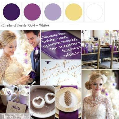 {Baby It's Cold Outside}: Shade of Purple, Gold + White [plum; light