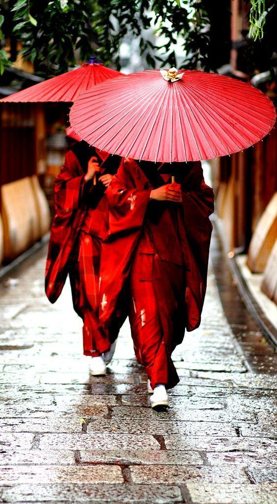 Traditional Kimono dress women in Japan