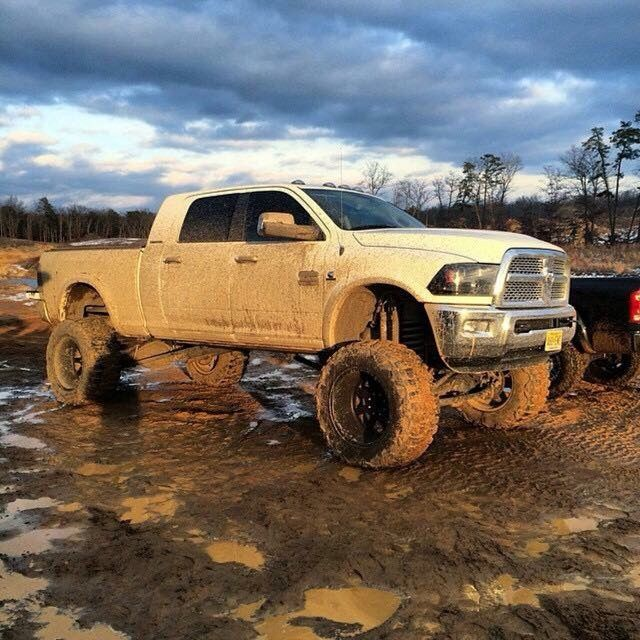 Follow us to see more badass lifted, diesel or gas trucks. Cummins, Duramax or Powertroke -we love all! So, bring on the big Chevy, GMC, Ram, Dodge, Ford or Jeep trucks. I like to see them in the mud, on the dragstrip, or just cruising the street.  #ram #cummins #countrygirl