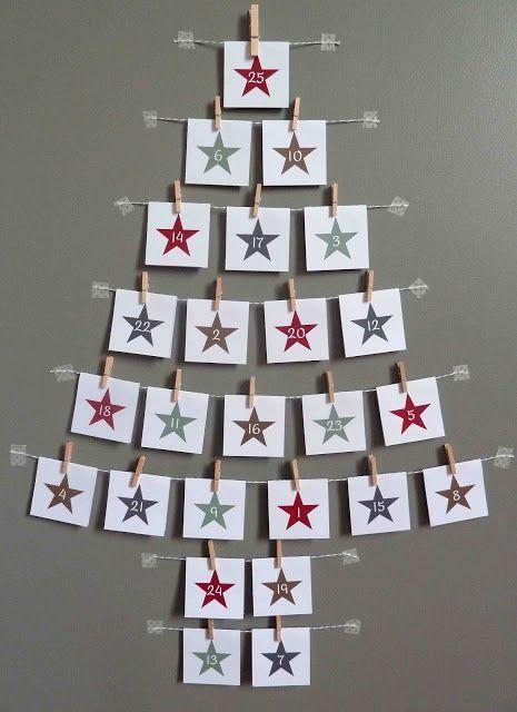 Aftellen naar Kerstmis door elke dag een spelletje te spelen dat achter een kaartje hangt.