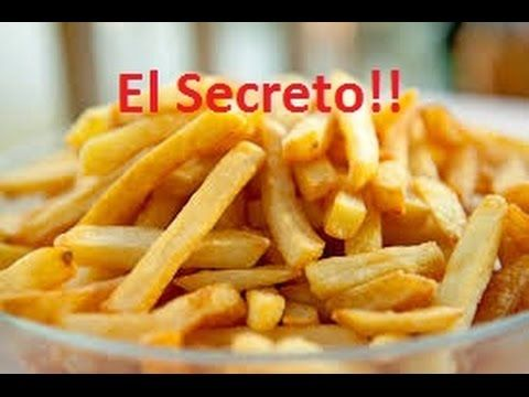 Papas fritas crujientes tipo McDonalds El secreto Facil - YouTube