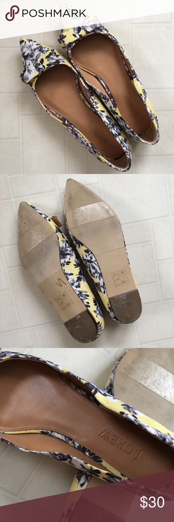 J. Crew Amelia Yellow Floral Ballet Flats EUC as shown. Super precious shoes. Buy with confidence I'm a top 10% poshmark seller and a Poshmark Ambassador. J. Crew Shoes Flats & Loafers