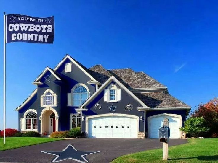 Now THIS is a house! Someone made my dream house then added cowboys to make it the perfect dream house. ;) ah
