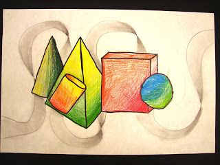 This is the first project from the 7th grade Class of 2011.  This project we worked on shading,  the color wheel, blending, and 3d objects.  Sorry for the late start to the 2011 school year with art work there will be more to come soon.