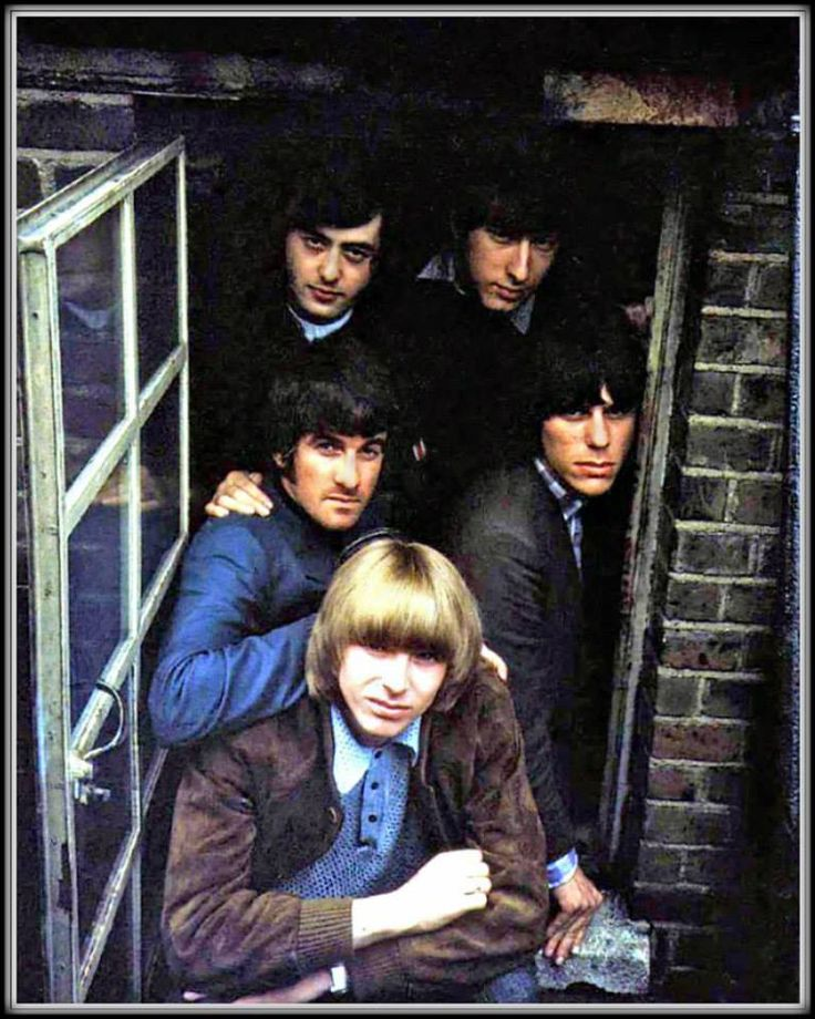 Yardbirds. Jimmy Page, top left, Jeff Beck down on the right....