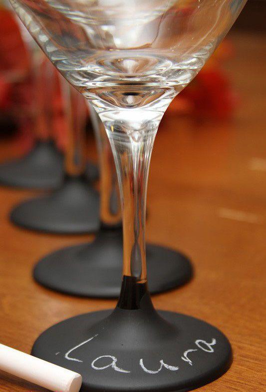 Personnaliser les verres pour l'apéritif