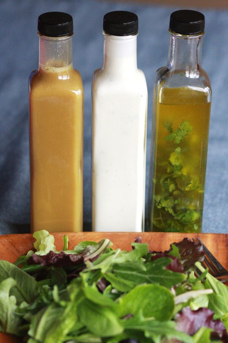 Make Your Own Salad Dressings...Honey Mustard, Ranch, and Lime Cilantro Dressings