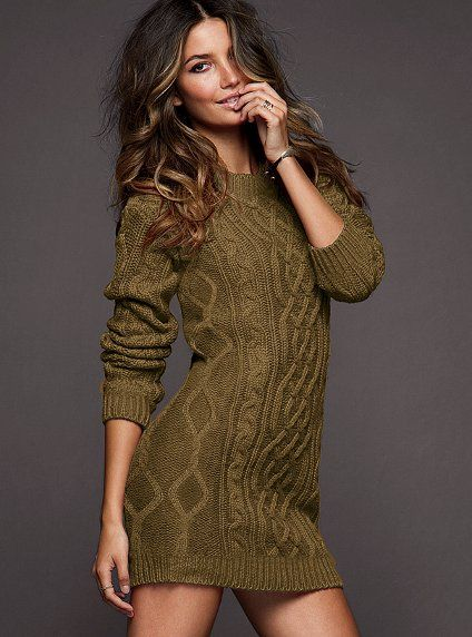 slouchy cable sweater dress   Clearance $34.99   #285-426