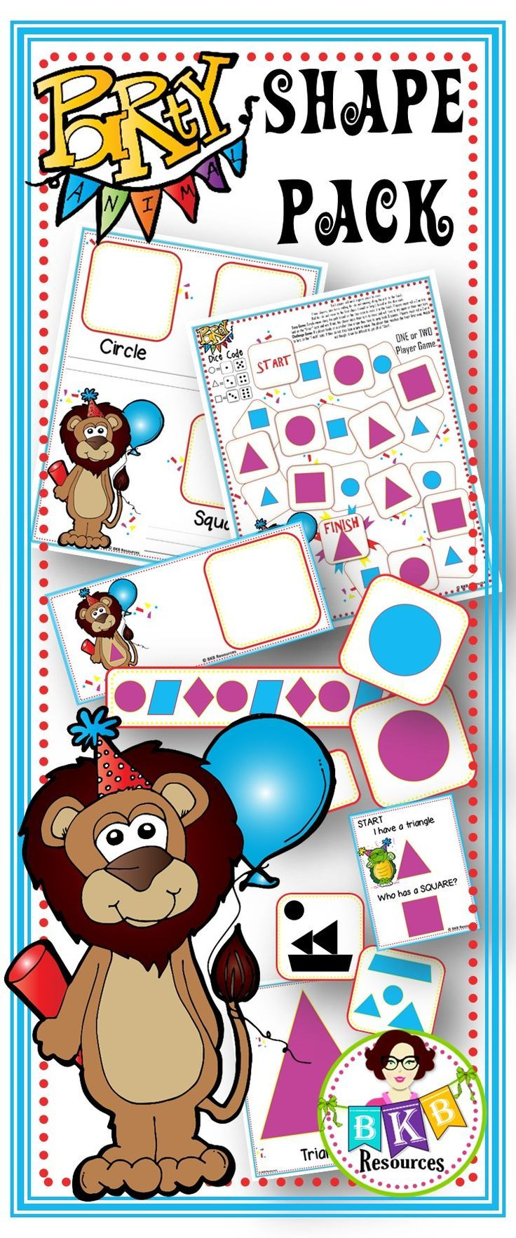 Huge Shape Pack filled with over 30 activities to help students learn 2D shapes in a fun and engaging way. Discounted price - huge savings! Puzzles, posters, no prep printables, tracing, graphing, games, sorting, drawing and much more. CLICK NOW to view o