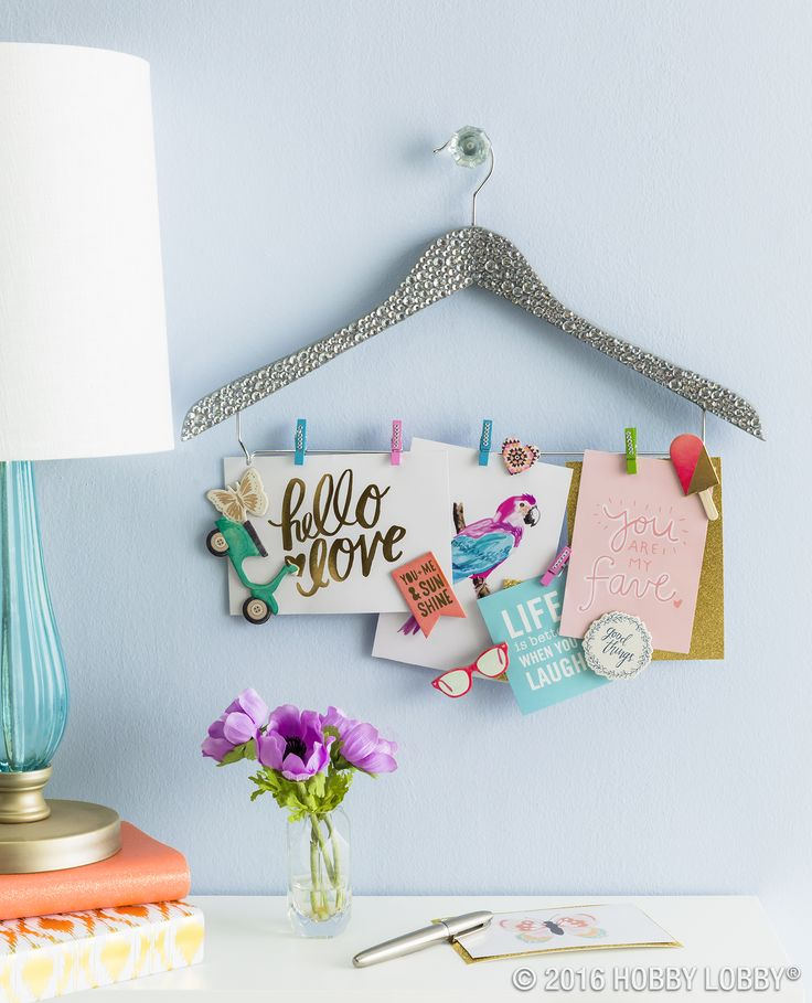 Limited on space? Create an unconventional memo board to stay stylishly organized.