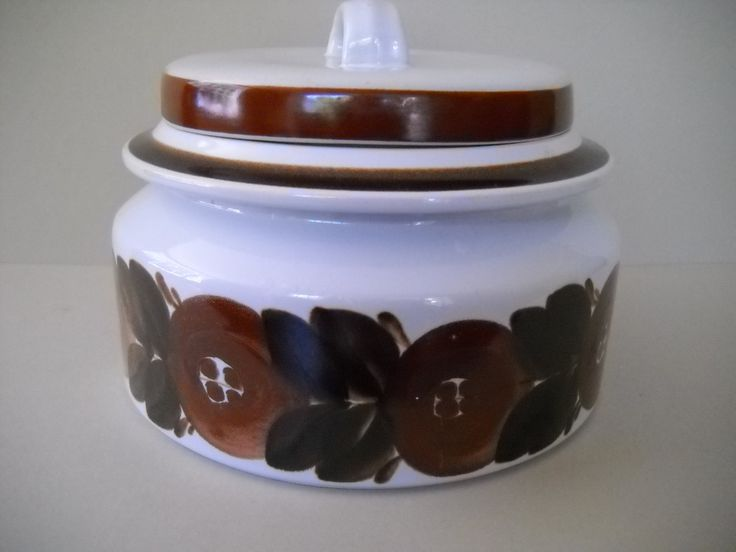 Arabia Finland Brown Anemone Rosmarin Covered Casserole Soup Tureen Ulla Procope Design by Modernaire on Etsy
