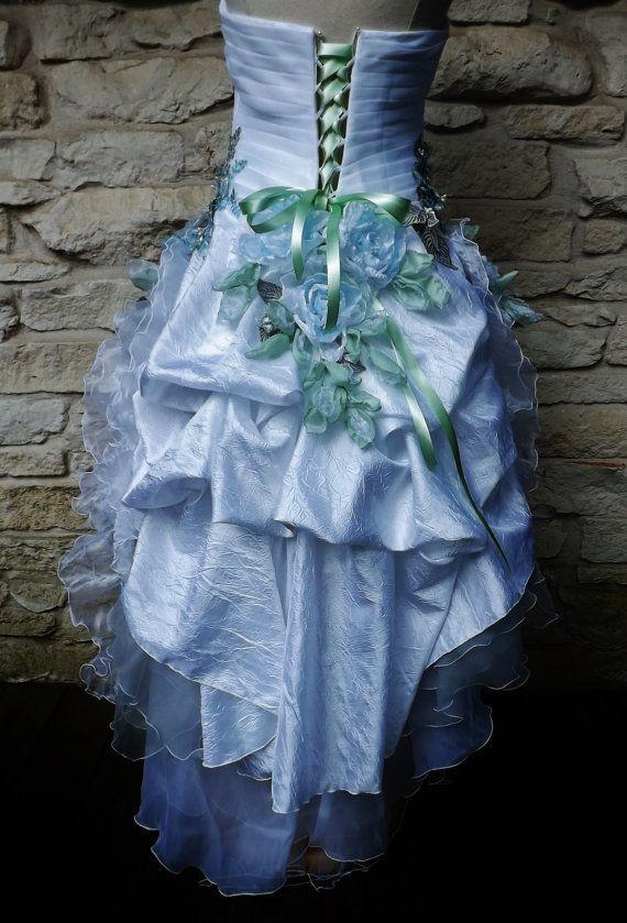 MACHTE Ordnung handgefertigte Hochzeit weiß blau von Arabescque