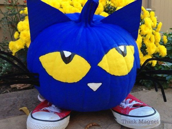 Pete the Cat Pumpkin.