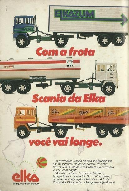 Caminhões Scania da Elka (1985).