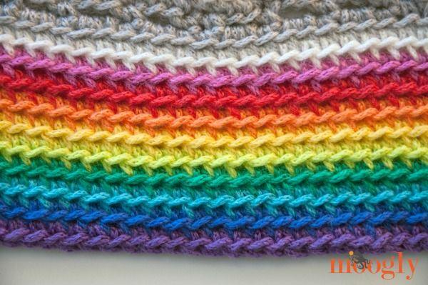 Crochet Rainbow Baby Blanket Pattern By Flavia : Pinterest The world s catalog of ideas