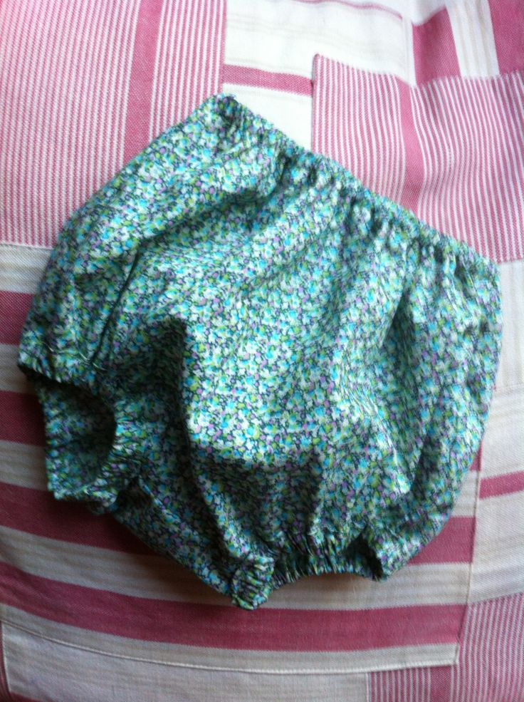 Liberty print bloomers in pepper turquoise