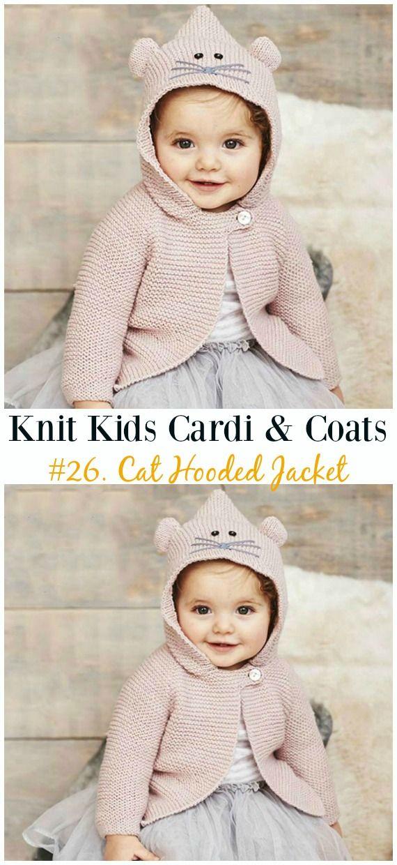 Kids Cardigan Sweater Free Knitting Patterns | Crochet and Knitting ...