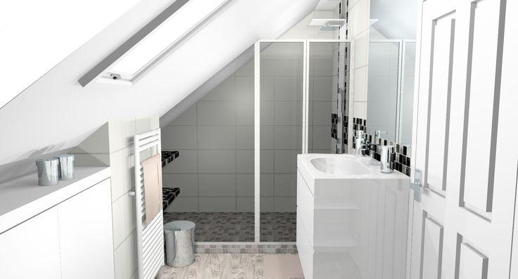 25 best ideas about parquet mosaique on pinterest - Salle d eau sous pente ...
