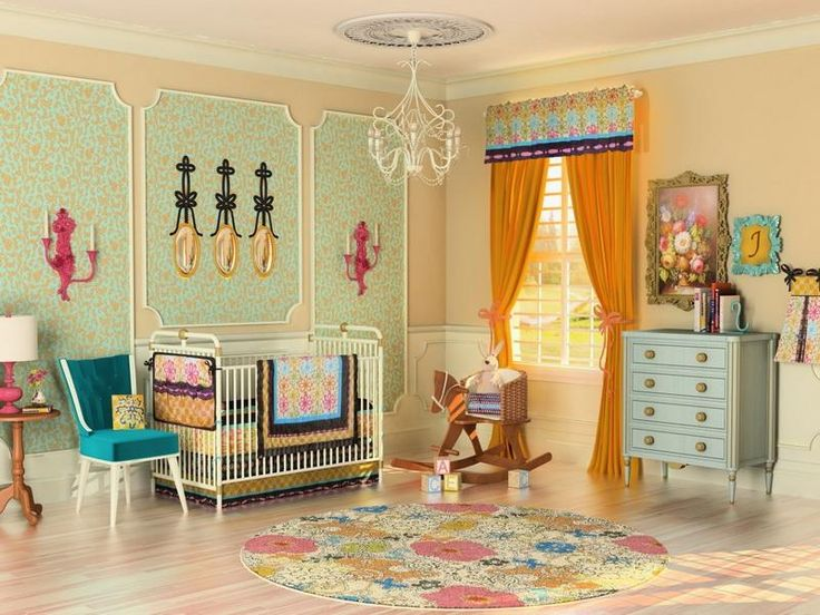 unique vintage girl nursery - Unique Baby Girl Nursery Ideas