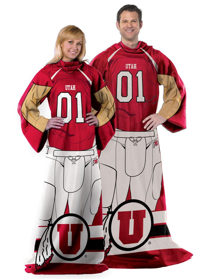 "Utah College """"Uniform"""" Adult Fleece Comfy Throw"