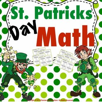 This St. Patrick's Day Pattern Math Printable activity is a great activity to help students develop the ability to see the patterns that are in everyday mathematics. This practice will give your students the reinforcement of pattern math that they can practice anytime.Included:-Example of problems -Teacher instructions-10 printable activity sheets with number practice-Answer key providedPlease follow my store to be the first to know about new products as they are released!Custom Core…