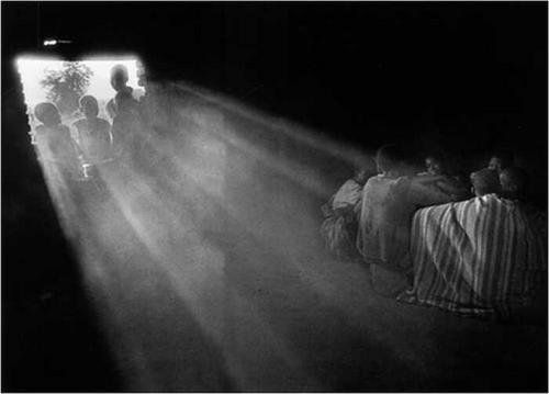 Sebastiao Salgado Boys fleeing from Southern Sudan to avoid being forced to fight in the civil war, and heading for the refugee camps of Northern Kenya in 1993.