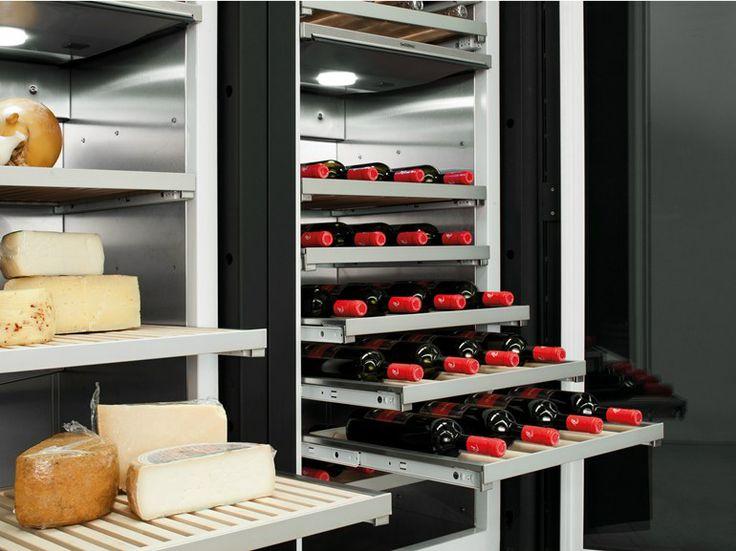 Modulo cucina freestanding con ante con cassetti MINÀ | Modulo cucina freestanding con frigorifero - Minacciolo