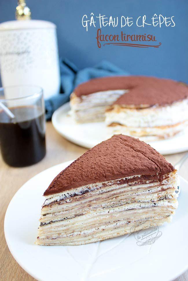 Gâteau de crêpes façon tiramisu #chandeleur