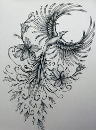 Image result for feminine phoenix tattoos:
