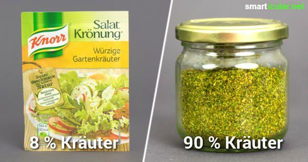 Salat-Kräutermischungen enthalten oft viele Zusatzstoffe und wenig Kräuter. Stelle deine Würzmischung aus wenigen Zutaten ganz einfach selbst her!