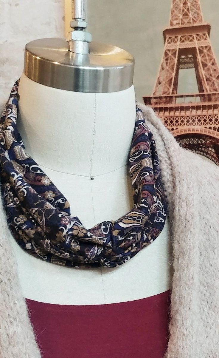 It's a Liberty of London print headband, but looks great as a scarf too! We're here to help you piece together the perfect outfit to show off your romantic, fresh and hip Parisian fashion style! #fashion #womensfashion #womenswear #frenchstyle #parisstyle #clothing