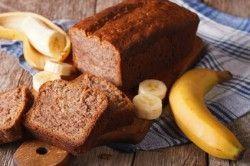 Zdravé moučníky - banánový chlebíček
