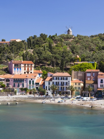 Beach at Collioure in Languedoc-Roussilon, France