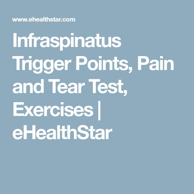 Infraspinatus Trigger Points, Pain and Tear Test, Exercises | eHealthStar